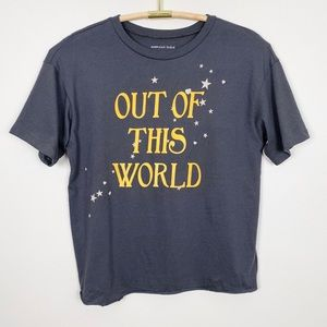 AMERICAN EAGLE Out Of This World Graphic Tee S New